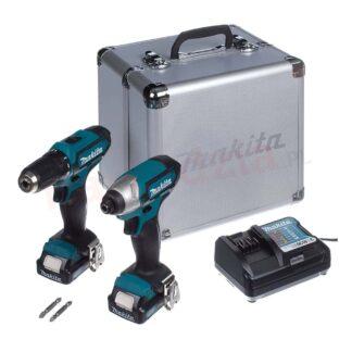 MAKITA aku set CLX201X – bušilica + udarni odvijač TD110D 2 xAku 12V 1,5Ah + kovčeg