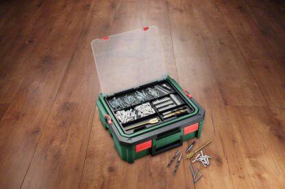 BOSCH aku udarna bušilica-odvijač PSB 1800 2xAku 18V 1,5Ah + 241 dijelni set pribora