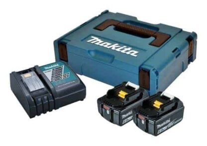 Makita aku POWER SET 2xAku 18V 6,0Ah 1xDC18RC + kovčeg 198116-4