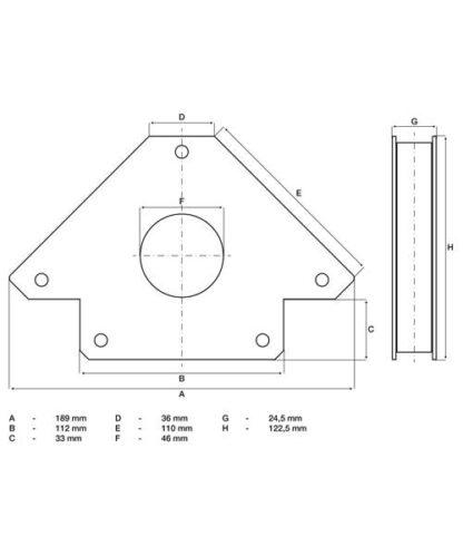 BGS magnetni držač kutni do 32 kg 3009