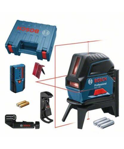 BOSCH križni laserski nivelir GCL 2-50 + LR 6 + kovčeg