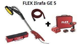 FLEX brusilica za knauf FLEX GE 5 + crijevo + torba + aku bušilica