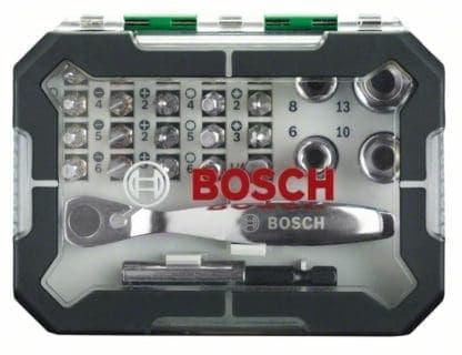 BOSCH 26-dijelni set bitova i nasadnih ključeva sa račnom