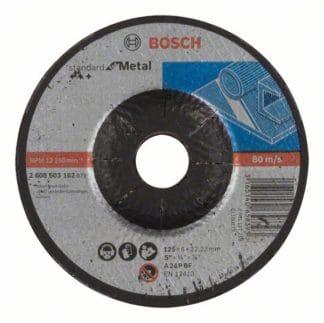 BOSCH brusna ploča za metal koljenasta Standard 125×6 mm