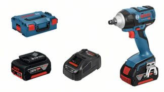 BOSCH aku udarni stezač GDS 18 V-EC 250 2xAku 18V 5,0Ah + L-BOXX