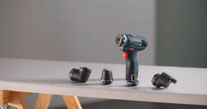 BOSCH aku bušilica-odvijač GSR 12V-15 FC 2xAku 12V 2,0Ah + 4 nastavka + L-BOXX