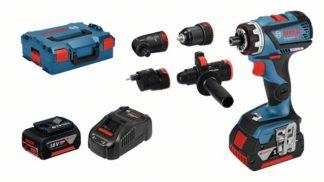 BOSCH aku bušilica-izvijač GSR 18V-60 FC 2xAku 18V 5,0Ah + nastavci + L-BOXX