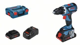 BOSCH aku bušilica-odvijač GSR 18V-60 C 2xAku ProCORE18V 4,0Ah + L-BOXX