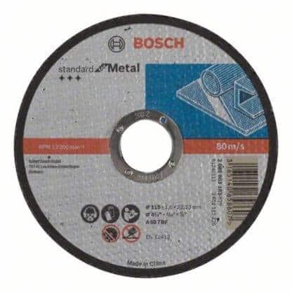BOSCH rezna ploča za metal ravna Standard 115×1,6 mm