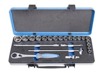 UNIOR set nasadnih ključeva i pribora 1/2″ u metalnoj kutiji 10-32/23