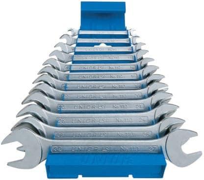 UNIOR set viljuškastih ključeva 6-32/12 na metalnom stalku