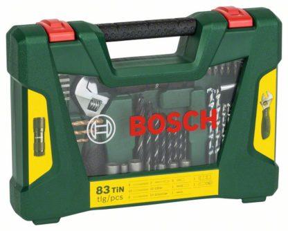 BOSCH 83-dijelni V-Line TiN set svrdla i bitova s LED baterijskom svjetiljkom i francuskim ključem