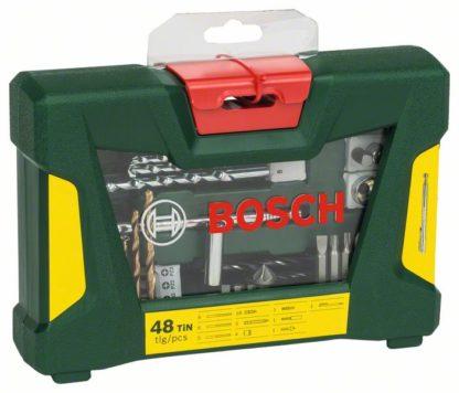 BOSCH 48-dijelni V-Line TiN set svrdla i bitova s magnetskim štapom
