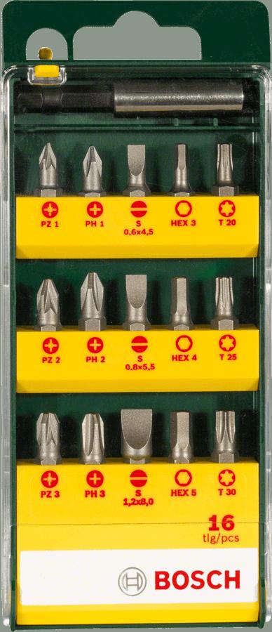 BOSCH 16-dijelni set bitova za uvrtanje vijaka