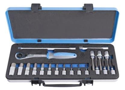 UNIOR set nasadnih imbus ključeva i pribora 1/2″ u metalnoj kutiji