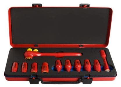 UNIOR set nasadnih ključeva i pribora 1/2″ izoliranih u metalnoj kutiji