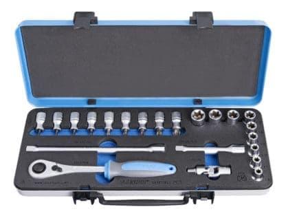 UNIOR set nasadnih ključeva s TX profilom i pribora 1/2″ u metalnoj kutiji