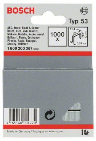 BOSCH set spajalica 11,4×12 mm, 1000 kom,  tip 53