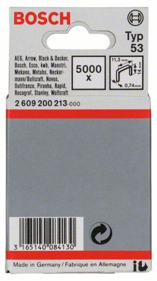 BOSCH set spajalica 11,4×14 mm, 5000 kom, tip 53