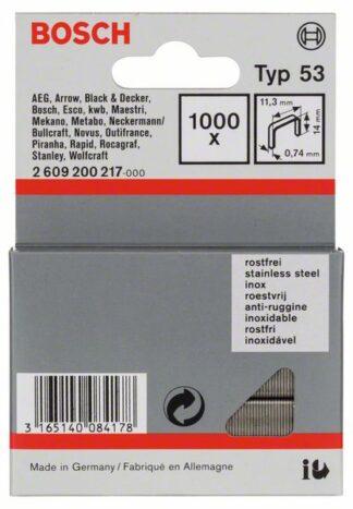 BOSCH set spajalica 11,4×14 mm, 1000 kom, nehrđajuća, tip 53