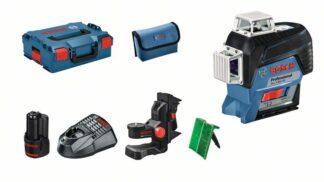 BOSCH laserski nivelir GLL 3-80 CG + BM1 + 1xAku 12V 2,0Ah + L-BOXX