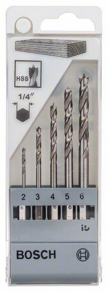 BOSCH 5-dijelni set svrdla za drvo sa šesterostranim prihvatom