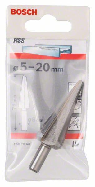 BOSCH konusno svrdlo za ljuštenje lima HSS 5 – 20 mm