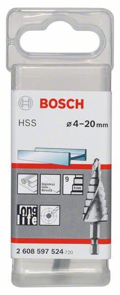 BOSCH stupnjevito svrdlo za metal, šesterokutni prihvat HSS 4 – 20 mm
