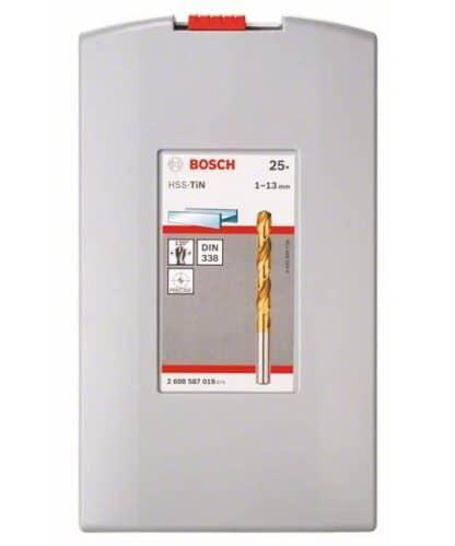 BOSCH 25-dijelni set Robust Line svrdla za metal HSS-TiN