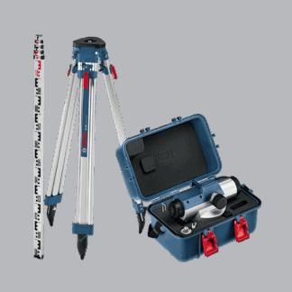 BOSCH optički nivelir GOL 32 D + stativ + mjerna letva + kovčeg