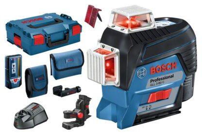 BOSCH laserski nivelir GLL 3-80 C + BM1 + LR7 + 1xAku 12V 2,0Ah + L-BOXX