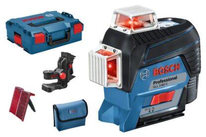 BOSCH laserski nivelir GLL 3-80 C + BM1 + 1xAku 12V 2,0Ah + L-BOXX