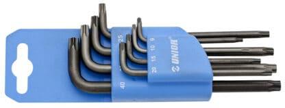 UNIOR set imbus ključeva sa TX profilom i rupicom na plastičnom stalku TR9 – TR40/8