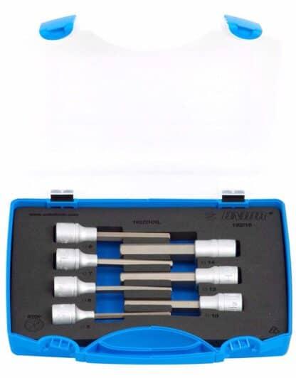 UNIOR set nasadnih dugih imbus ključeva i pribora 1/2″ u plastičnoj kutiji