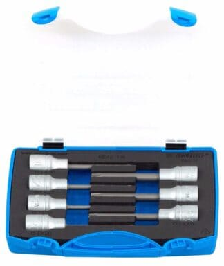 UNIOR set nasadnih ključeva dugih 1/2″ s TX profilom u plastičnoj kutiji
