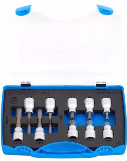 UNIOR set nasadnih ključeva 1/2″ s ZX profilom u plastičnoj kutiji