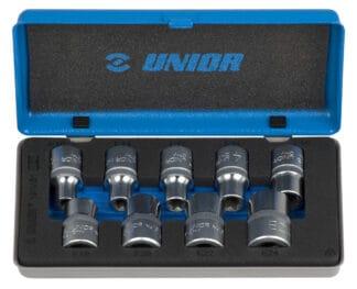 UNIOR set nasadnih ključeva1/2″ s unutrašnjim TX profilom u metalnoj kutiji E10 – E24