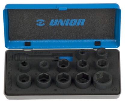 UNIOR set nasadnih ključeva i pribora IMPACT 3/8″ u metalnoj kutiji