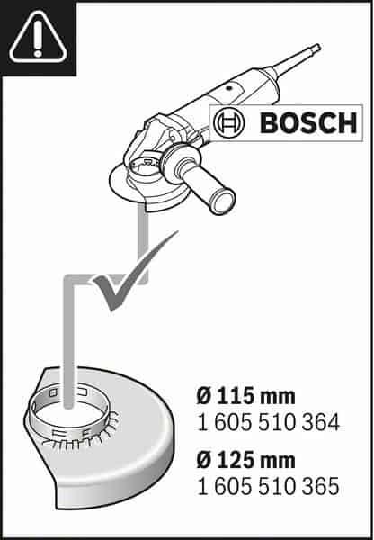 BOSCH usisni štitnik GDE 115/125 FC-T