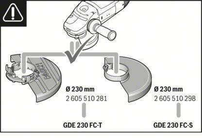BOSCH usisni štitnik GDE 230 FC-T