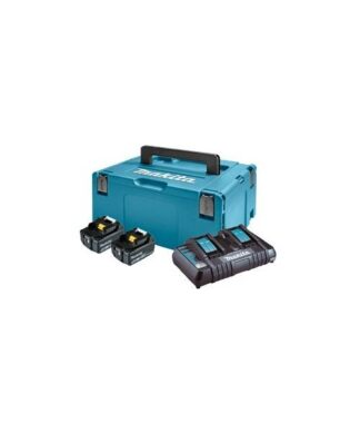Makita aku POWER SET 2xAku 18V 5,0Ah 1xDC18RD + kovčeg 197629-2