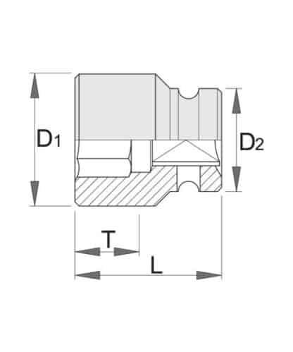 UNIOR udarni nasadni ključ IMPACT 3/4″