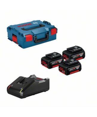 BOSCH akumulator 3 x GBA 18V 5,0Ah + GAL 18V-40 + L-BOXX