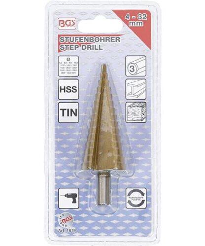 BGS stupnjevito svrdlo 4 – 32 mm 1619