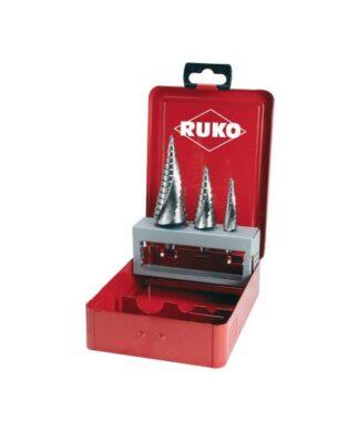 RUKO 3-dijelni set stepenastih svrdala HSS 101026F 4 – 12 mm, 4 – 20 mm, 4 – 30 mm
