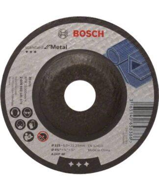 BOSCH brusna ploča za metal koljenasta Standard 115×6 mm