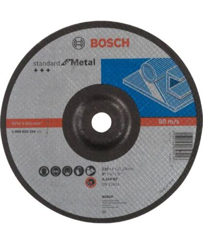 BOSCH brusna ploča za metal koljenasta Standard 230×6 mm