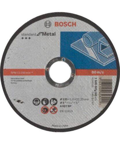 BOSCH rezna ploča za metal ravna Standard 125×1,6 mm